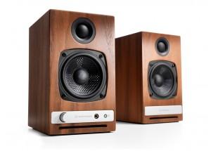 Audioengine HD3 Bois - Enceintes actives avec amplificateur de puissance intégré 2 x 15 Watts.