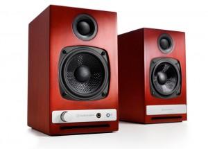 Audioengine HD3 Rouge -  Enceintes actives avec amplificateur de puissance intégré 2 x 15 Watts.