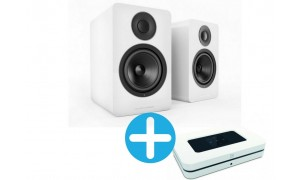 Bluesound NODE 2i  et Acoustic Energy AE1 Blanc