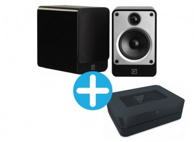 Q Acoustics Concept 20 et Bluesound Powernode 2i Noir
