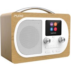 Pure Evoke H4 Chêne : Poste de radio portable Bluetooth FM, DAB/DAB+