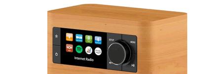 Voir le rayon des postes de radio avec triple tuners radio : Internet / DAB / FM
