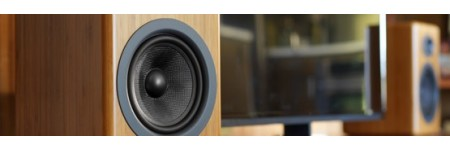 Aller au rayon enceintes amplifiées stéréo pour la TV : format bibliothèque ou compact