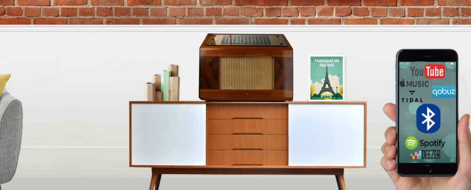 A.bsolument The Cambridge International: poste de radio vintage Bluetooth