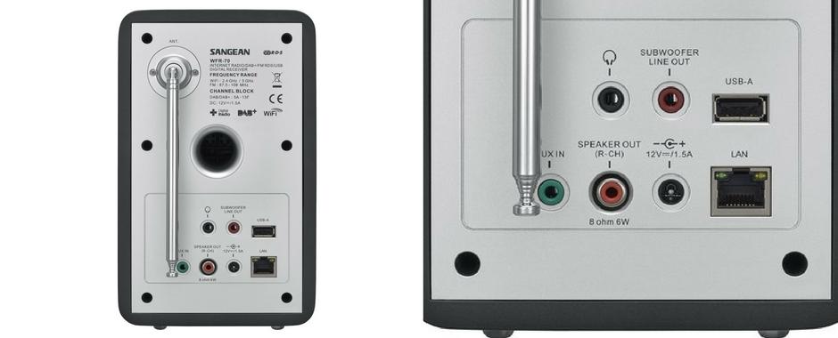 Des connectiques audio complètes : entrée analogique mini-jack et port de lecture USB