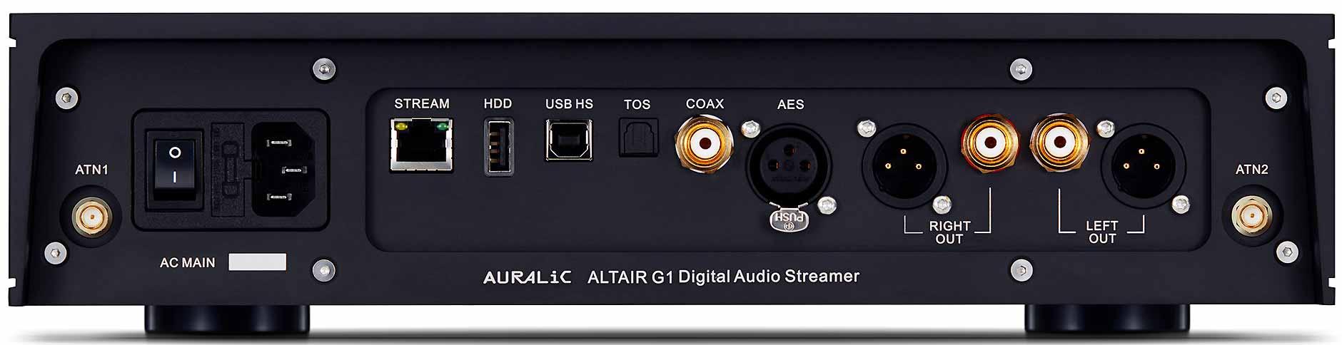 Lecteur réseau audio avec DAC Sabre intégré 24 bits / 384 kHz et DSD512. Ecran en façade. Emplacement disque dur et disque mémoire SSD. Nombreuses entrées audio numérique.