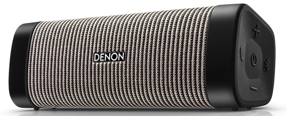 Denon Envaya Pocket DSB-50BT Gris : Enceinte sur batterie étanche et compacte avec réception Bluetooth qualité CD