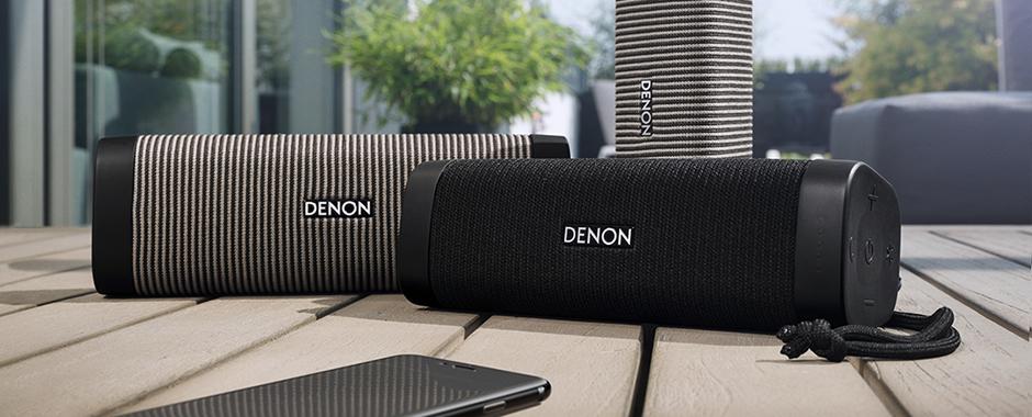 Denon Envaya Pocket DSB-50BT Noir : Couplez deux enceintes Pocket pour former un groupe ou une paire stéréo nomade.