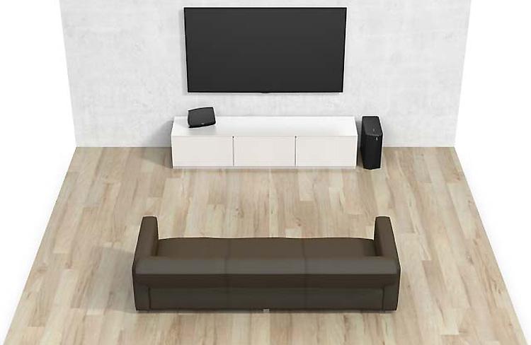 caisson de basses sans fil wifi pour enceintes heos. Black Bedroom Furniture Sets. Home Design Ideas