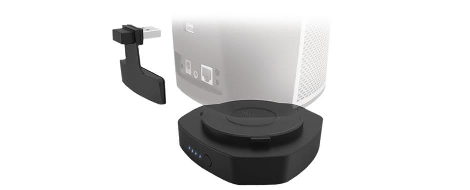 enceinte sans fil wifi bluetooth et audio hd avec batterie. Black Bedroom Furniture Sets. Home Design Ideas