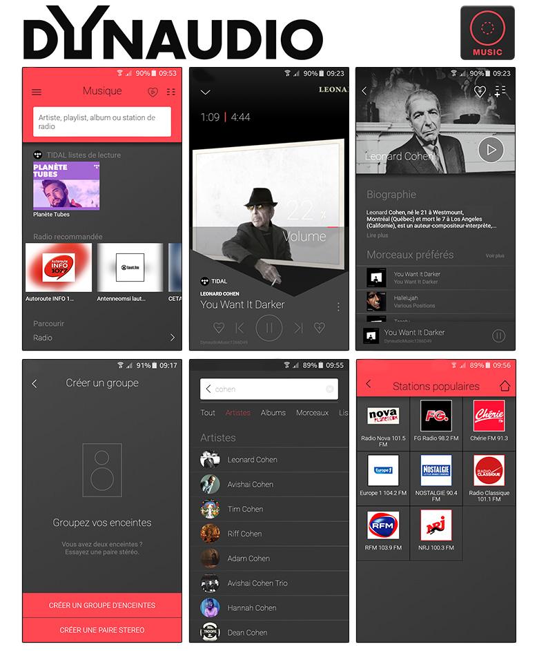 Choisir ses musiques depuis l'application Dynaudio sur IPhone et smartphone Android