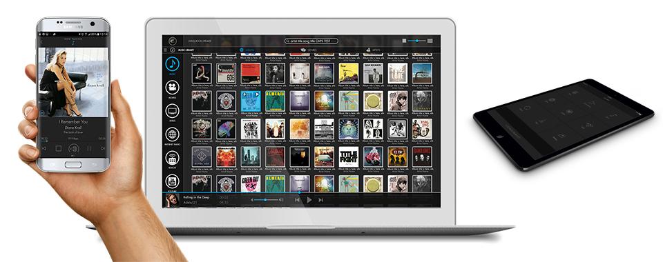 L'application EC Remote d'Electrocompaniet est disponible sur tous les appareils Android, Apple, Windows et Linux. Téléchargez l'application sur AppStore et Google Play ou pilotez vos appareils depuis un simple navigateur web.