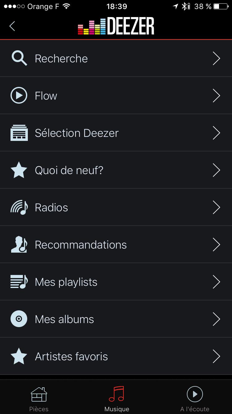 Application HEOS : toutes les sources audio disponibles pour l'écoute sur les produits compatibles HEOS : Denon et Marantz