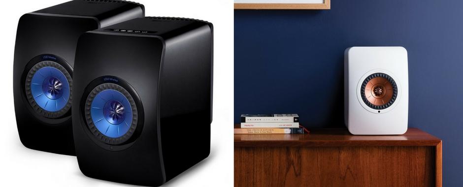 Enceintes sans fil WiFi KEF LS50 Wireless : amplifiées, DAC intégré, lecteur réseau et réception Bluetooth aptX
