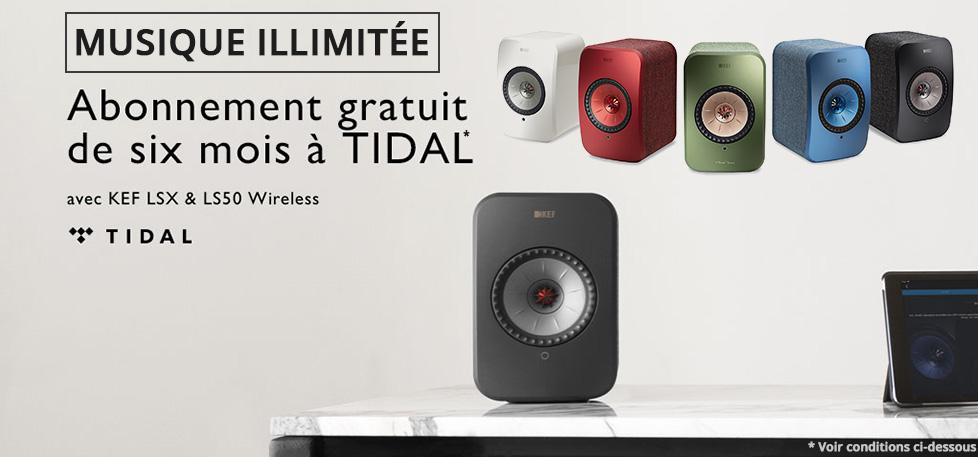 Gagnez 6 mois d'abonnement à la haute résolution Tidal en commandant une paire d'enceintes KEF LS50 Wireless ou KEF LSX