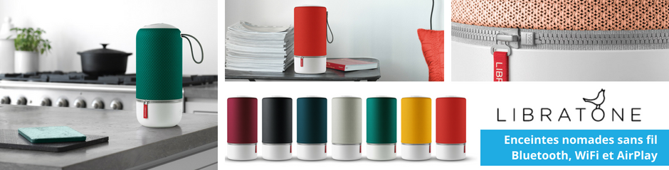 Libratone : enceintes nomades AirPlay et Bluetooth