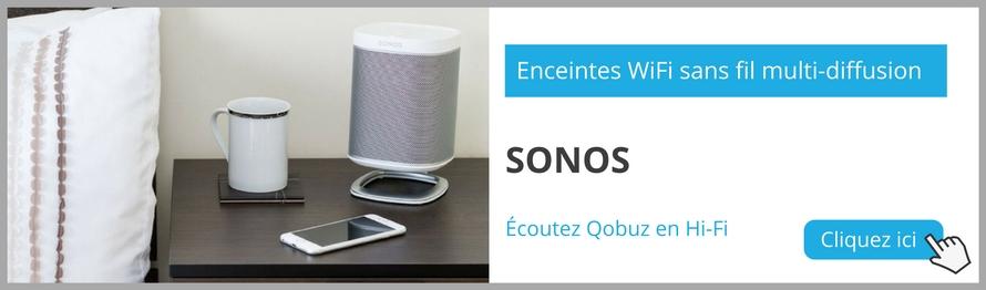 Découvrez la gamme d'enceintes multiroom Sonos. Profitez d'un retour de 100 jours et de 3 mois d'abonnement Qobuz