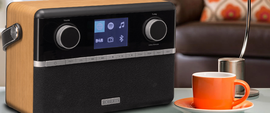 Poste radio réveil Roberts Stream 94i Internet / DAB / FM. Compatible Spotify Connect, réception Bluetooth.