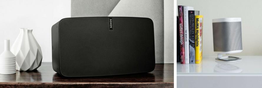 Comparez les enceintes connectées et sans fil de la marque Sonos