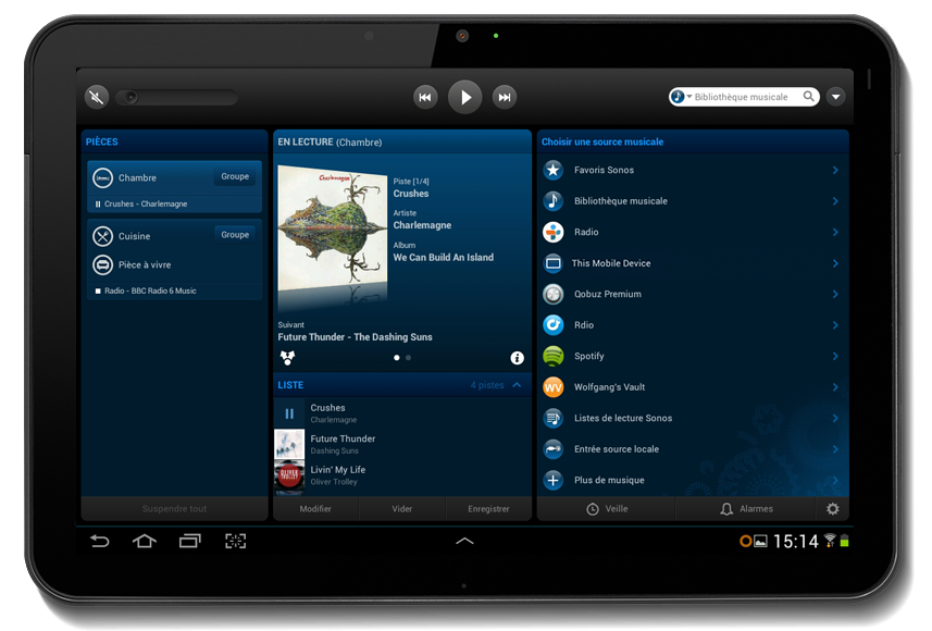 Exemple d'application Sonos