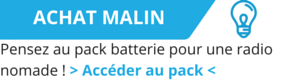Profitez de 10 heures d'autonomie grâce à la batterie 94i. Emmenez votre poste de radio Internet partout.