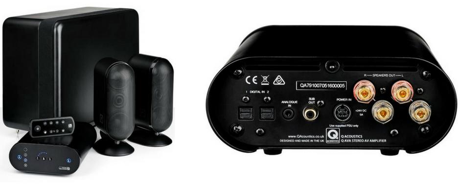 Q Acoustics Media 7000 2.1 : connectivité sans fil Bluetooth et connectique complète